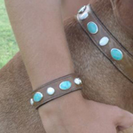 Matching Turquoise and Mother of Pearl Bracelet